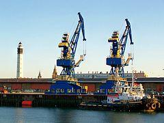 Cranes In The Ferry Terminal, Calais