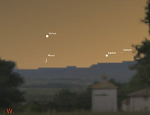 It is a beauteous evening, calm and free - Calais sky to West at 9 pm 1 August 1802 using Stellarium