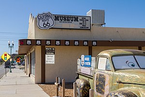 California Route 66 Museum - The California Route 66 Museum is located at 16825 South D Street in the city of Victorville, California. The California Route 66 Museum is devoted to the representation of U.S. Highway 66 in both historic and contemporary exhibition.