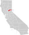 California county map (Nevada County highlighted).svg