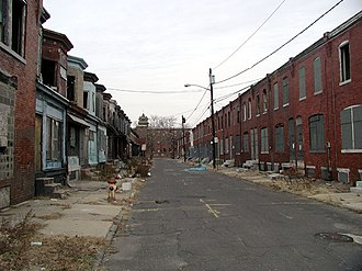 Urban decay - Much of the city of Camden, New Jersey suffers from urban decay.