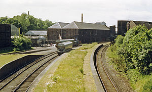 Cameron Bridge - Remains of Cameron Bridge station, 1988.