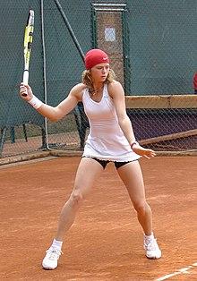 Una giovane Camila agli Internazionali d'Italia del 2008