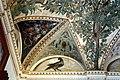 Camillo mantovano, volta della sala a fogliami di palazzo grimani, 1560-65 ca., lunette con grottesche e rebus allusivi al processo per eresia di giovanni grimani 11.jpg
