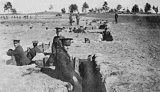 CFB Borden - Soldiers training for trench warfare at Camp Borden in 1916