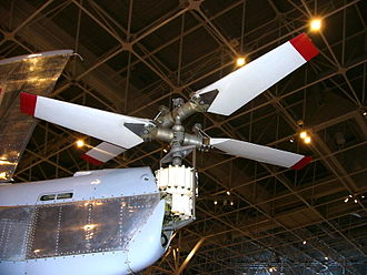 Canadair CL-84 - The CL-84 tail rotor on serial number CX8402 on display at the Canada Aviation and Space Museum