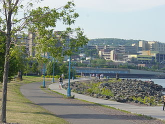 Canal Park, Duluth - Both tourists and locals enjoy the Lakewalk