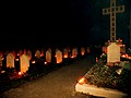 Candles placed at the graves during the All Souls' Day ceremony of Homage and Remembrance at Newark Cemetery. Picture, Laurence Goff - panoramio (8).jpg