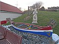 Canoe as planter - geograph.org.uk - 1187955.jpg