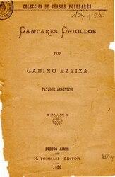 Gabino Ezeiza: Cantares criollos