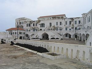 English: Cape Coast Castle is a fortification ...