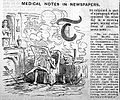 Caricature; Medical notes in newspapers. Wellcome L0028034.jpg