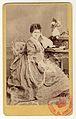Carol Popp de Szathmáry - Matei Millo în costum de teatru, costum feminin, piesa Dama cu camelii.jpg
