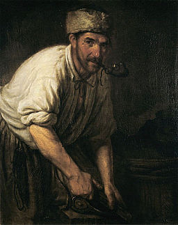 Carpenter by Kapiton Pavlov (1838, Russian museum)