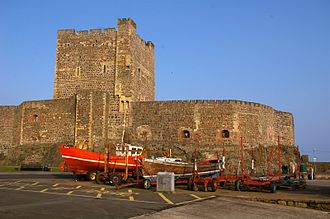 Carrickfergus Castle - East wall and keep
