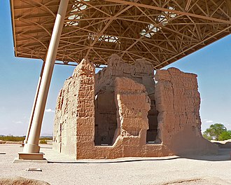 History of Native Americans in the United States - The Great House at the Casa Grande Ruins National Monument.