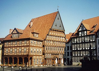 Hildesheim - Bakers' Guild Hall and Butchers' Guild Hall in the Market Place