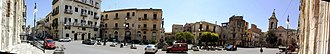 Casteltermini - Panoramic view of the city center.