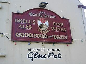 Castle Rushen - Pub sign of the Castle Arms
