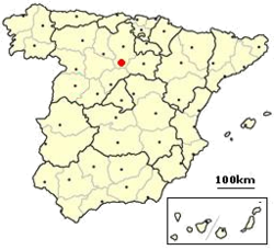Location of Castrillo de la Vega