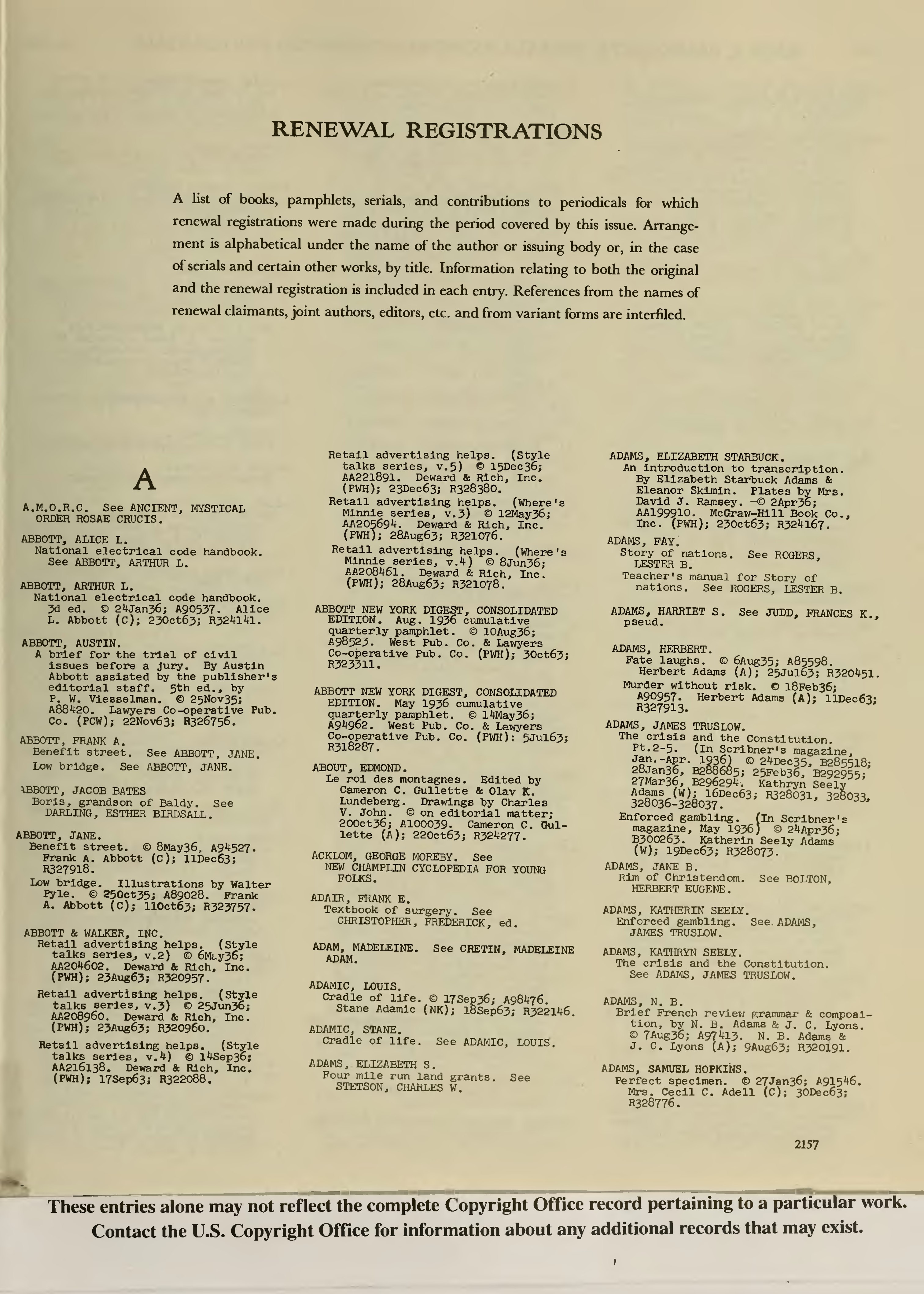 Page:Catalog of Copyright Entries 1963 Books and Pamphlets