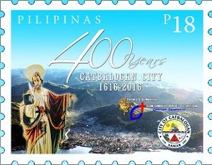 Catbalogan - 2016 stamp dedicated to the 400th anniversary of Catbalogan City.