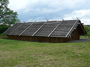 Chinookan peoples - Cathlapotle Plankhouse, a full-scale replica of a Chinook-style cedar plankhouse erected in 2005 at the Ridgefield National Wildlife Refuge, which was once inhabited by more than 1200 Chinook people