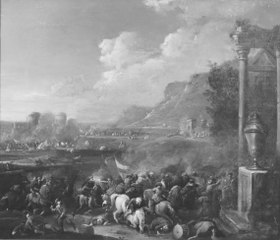 Cavalry Battle between Turks and Austrians (Cavalry Battle)