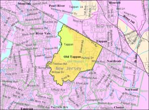 Old Tappan, New Jersey - Image: Census Bureau map of Old Tappan, New Jersey