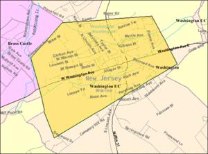 Washington, New Jersey - Image: Census Bureau map of Washington, New Jersey