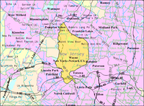 Census Bureau map of Wayne, New Jersey.png