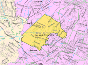 West Caldwell, New Jersey - Image: Census Bureau map of West Caldwell, New Jersey