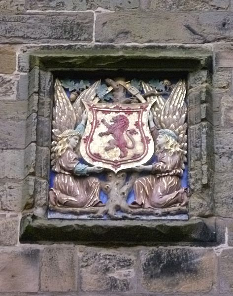 File:Central armorial tablet, Falkland Palace Gatehouse.jpg