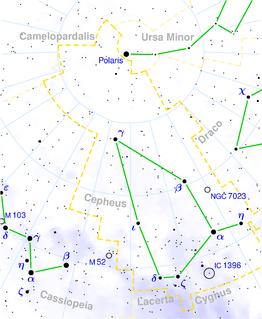 Gamma Cephei Binary star in the constellation Cephei