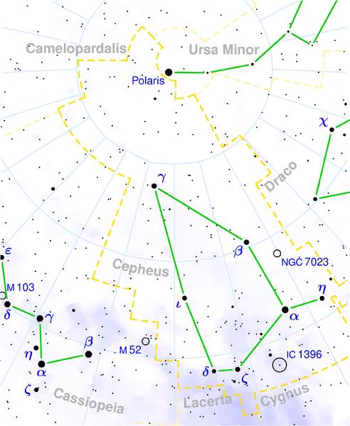 Созвездие Цефея на звездной