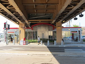 Cermak–Chinatown station - The new main entrance in 2011