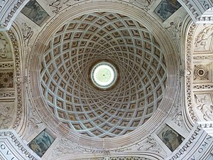 Château d'Anet - The chapel's spiral-coffered dome