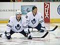 Chad Kilger and Hal Gill Maple Leafs 2008.jpg