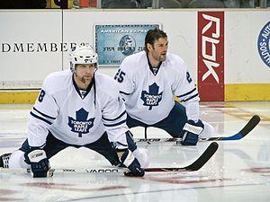 Chad Kilger - Kilger (left) alongside Hal Gill in 2008.