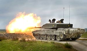 20th Armoured Infantry Brigade (United Kingdom) - A 20th Armoured Brigade Challenger 2 main battle tank during an exercise in 2013