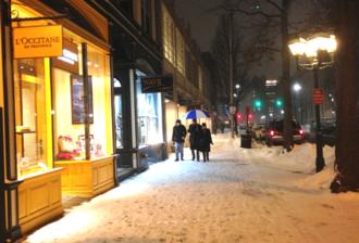 Downtown New Haven - Shops along Chapel Street