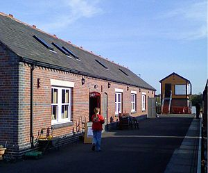 Chasewater Railway - The Chasewater Heaths station, with the new signal box rebuilt at the station in 2007