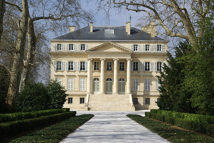 Château Margaux in Margaux (Gironde, France). National Heritage Site of France.