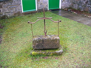 Dunlop cheese - An old cheesepress from Kindrogan House, Strath Ardle.