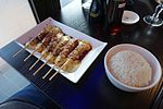 Cheese and beef skewer, Sushi Bar Montparnasse, Paris 001.jpg