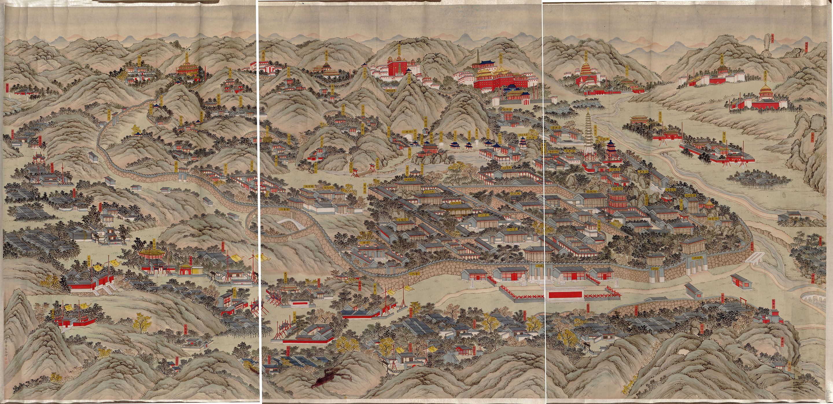 Qing dynasty map of the resort