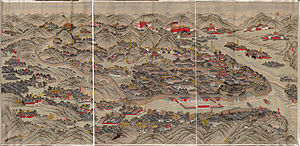 Chengde Mountain Resort - Qing dynasty map of the resort