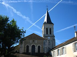 The church of Notre-Dame, in Villecresnes