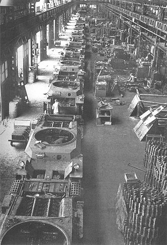 Type 3 Chi-Nu medium tank - Type 3 Chi-Nu tank production line, 1945