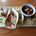 Chicken Club Tacos, Chilis (8428054670).jpg